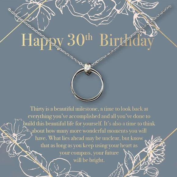 Happy 30th Birthday Necklace