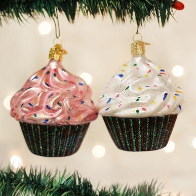 Assorted Chocolate Cupcakes Ornament