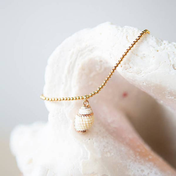 Listen Sea Shell Bracelet - White