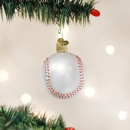 Baseball Ornament - The Silver Dahlia