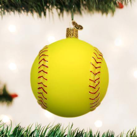 Softball Ornament - The Silver Dahlia