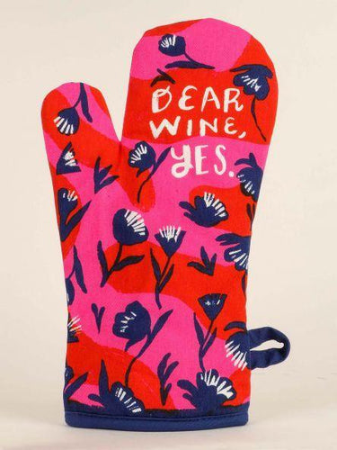Dear Wine, Yes Oven Mitt - The Silver Dahlia
