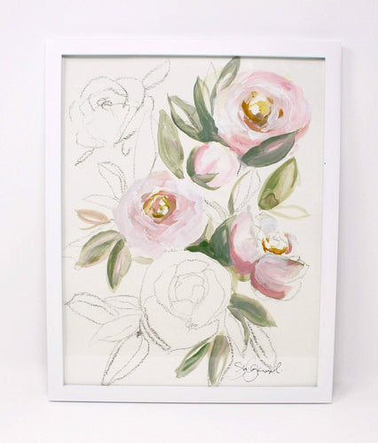 Blush Light Rose Art Print