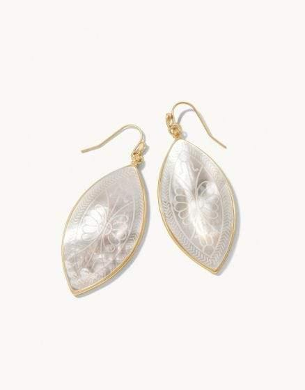 Ashley River Carved Earrings - The Silver Dahlia