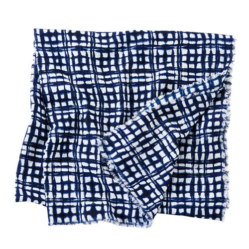 Blue Square Abstract Scarf