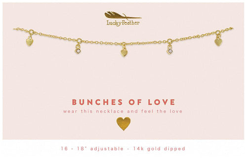 Dangle Necklace- Bunches of Lov