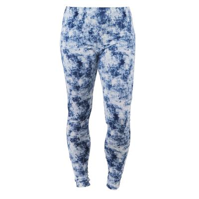 Blue Distress Luxe Lounge Leggings