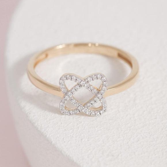 Intertwined and Feeling Fine Ring-Gold