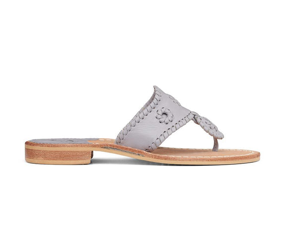 Jacks Flat Sandal- Gull Grey