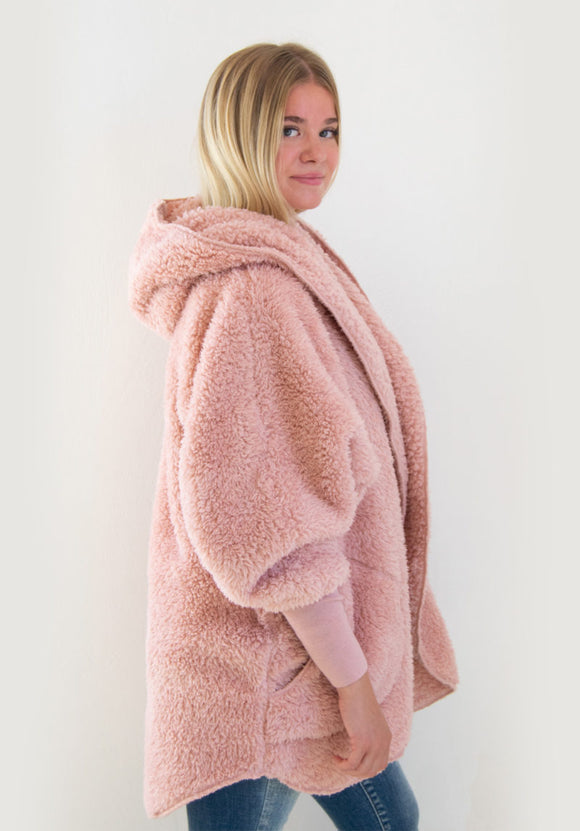 Cozy Cardigan - Blush Wine
