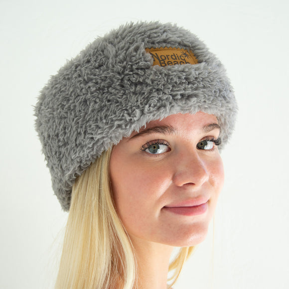 Cozy Headwrap-Grey Kitten