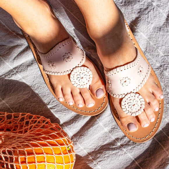 Jacks Flat Sandal- Pale Blush