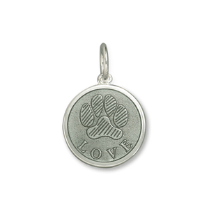 Paw Print 19mm Pewter