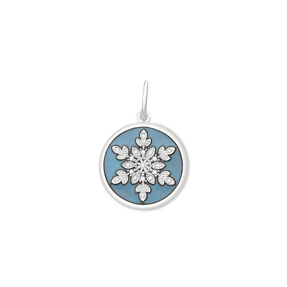 Snowflake 19mm Pale Blue