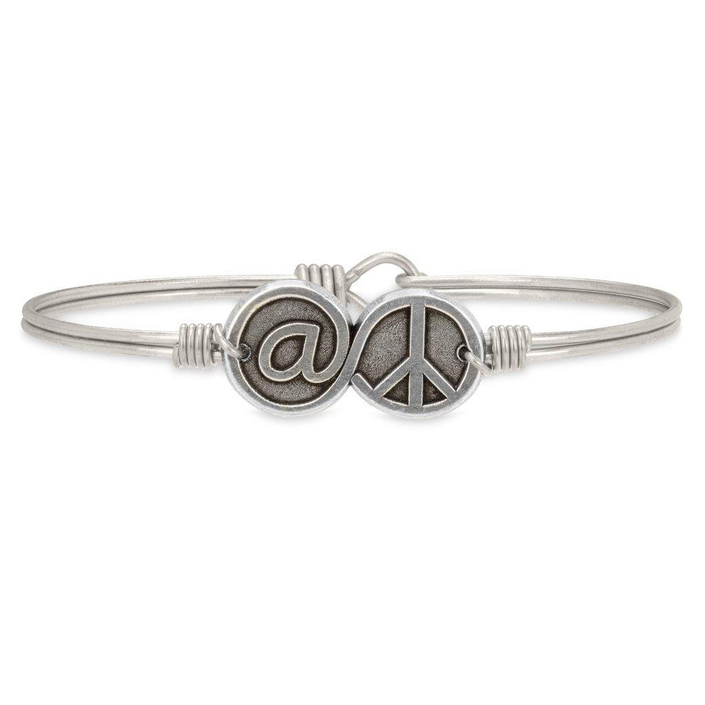 @Peace Bangle Bracelet - The Silver Dahlia
