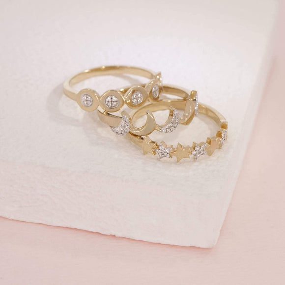 You Are My Universe Ring-Gold