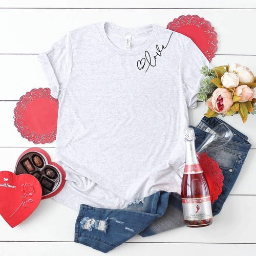 Valentine Graphic Shirt- Love (collar) - The Silver Dahlia