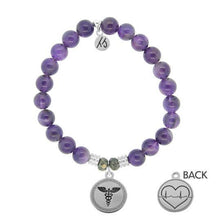 Load image into Gallery viewer, Amethyst- Caduceus - The Silver Dahlia