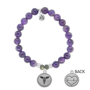 Amethyst- Caduceus - The Silver Dahlia