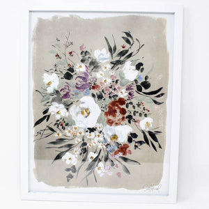 Neutral Wildflower Art Print