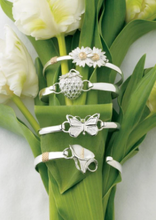 Load image into Gallery viewer, Convertible Bracelet Narrow Silver W/Gold Wrap - The Silver Dahlia
