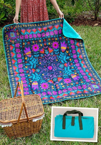 Picnic Blanket Gray Mandala - The Silver Dahlia