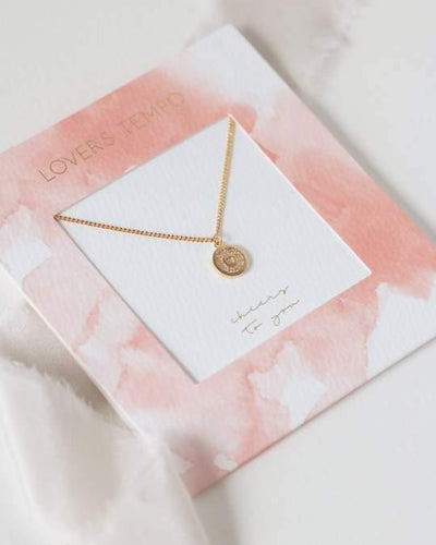 Cheers to You Gold Pave Necklace - The Silver Dahlia