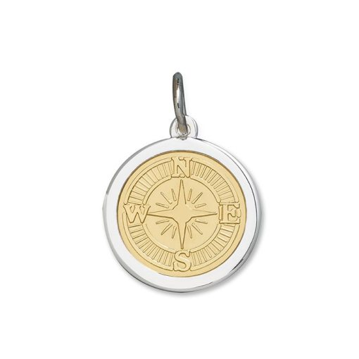 Compass Rose 27mm Gold Center V