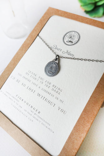 Dear Mom, Lost Without You Necklace