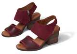 Majorca Block Oxblood Leather Sandals