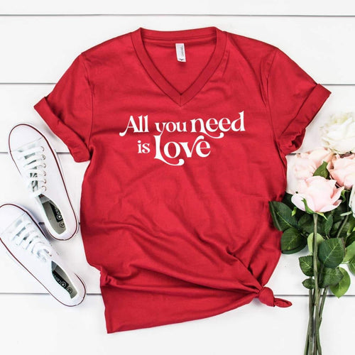 Valentine Graphic Shirt- All You Need Is Love - The Silver Dahlia