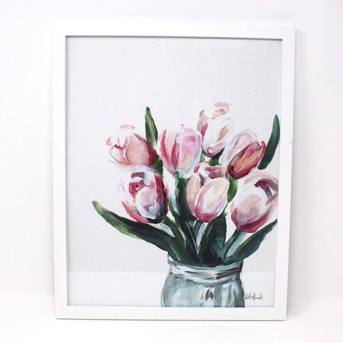 Blush Tulips Art Print