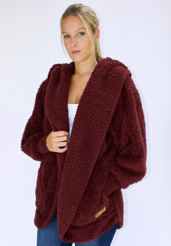 Cozy Cardigan- Chocolate Cherry