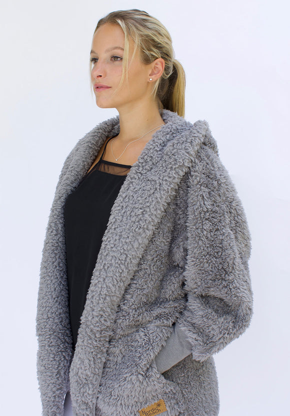 Cozy Cardigan- Grey Kitten