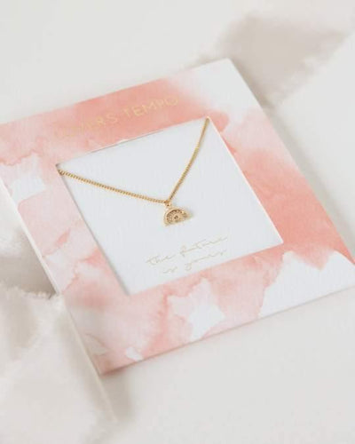 The Future is Yours Gold Pave Necklace - The Silver Dahlia