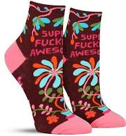 Super F***ing Awesome Ankle Socks
