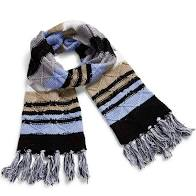 Cozy Striped Knit Scarf
