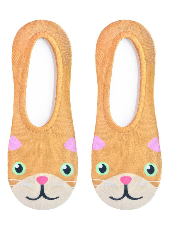 Kitty No-Show Liner Socks