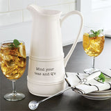 Teas & Q's Pitcher and Spoon Set