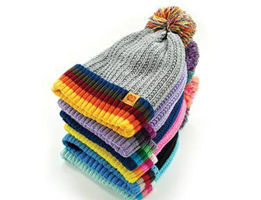 Play All Day Plush Lined Kids Pom Hat