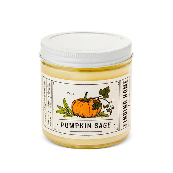 Large Pumpkin Sage Jar Candle