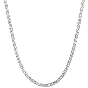 Rounded Box Chain 3mm 16""