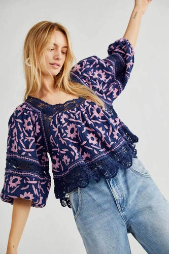 Soleil Embroidered Top