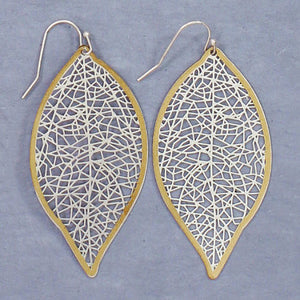 Silver Filigree with Gold Earrings