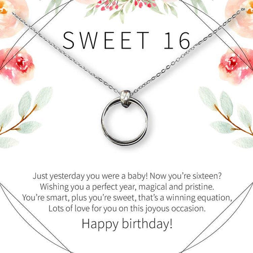 Sweet 16 Circle Necklace - The Silver Dahlia