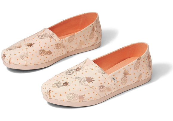 TOMS Classic Rose Gold Pineapple