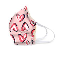 Hearts Pink Face Mask