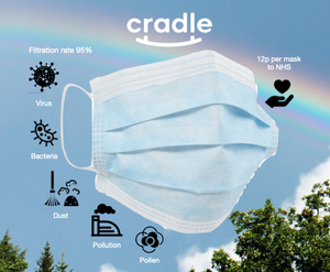 Cradle FFP2 Clinical Face Mask Supporting the NHS