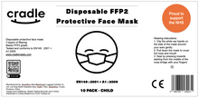 Load image into Gallery viewer, Children's FFP2 Protective Face Mask - 10 Pack