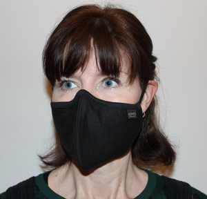 Black Washable Cotton 3 Layer Face Mask